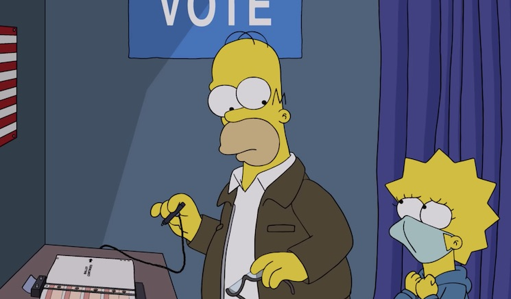 Lisa Scolds Homer Not to Vote for Trump in New Political Clip from 'The Simpsons'