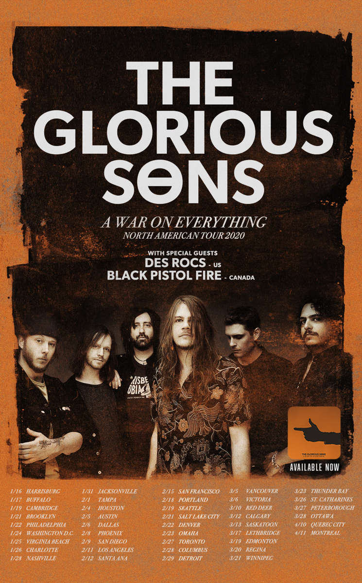 "The Glorious Sons Bring ""A War on Everything"" Tour Across Canada"