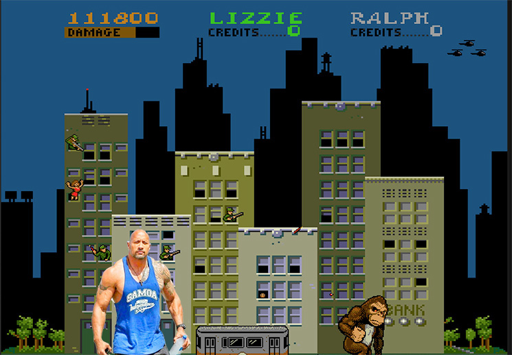 "Dwayne ""The Rock"" Johnson to Star in Adaptation of 'Rampage' Videogame"