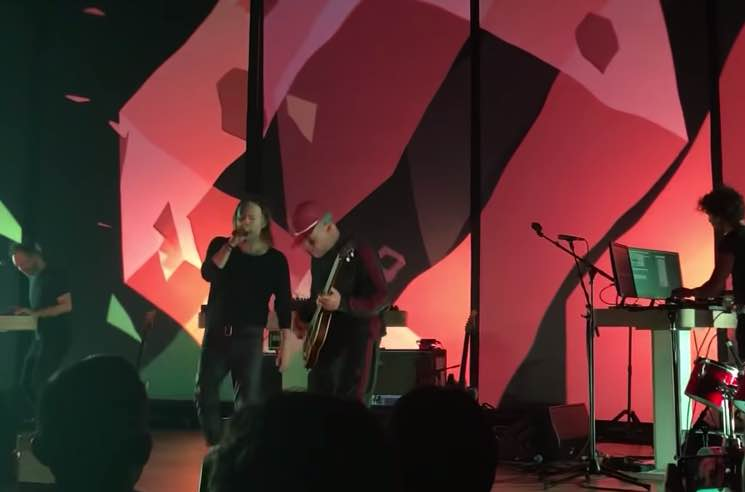 Thom Yorke Reunites Atoms for Peace Onstage