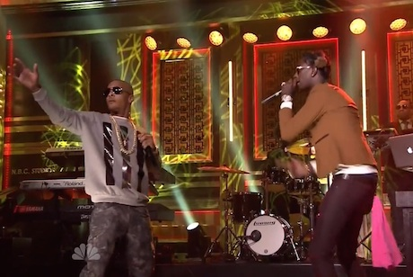 "T.I. ""No Mediocre"" / ""About the Money"" (ft. Young Thug) (live on 'Fallon')"