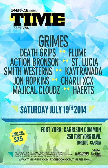 TIME Festival Returns to Toronto with Grimes, Death Grips, Action Bronson, Charli XCX