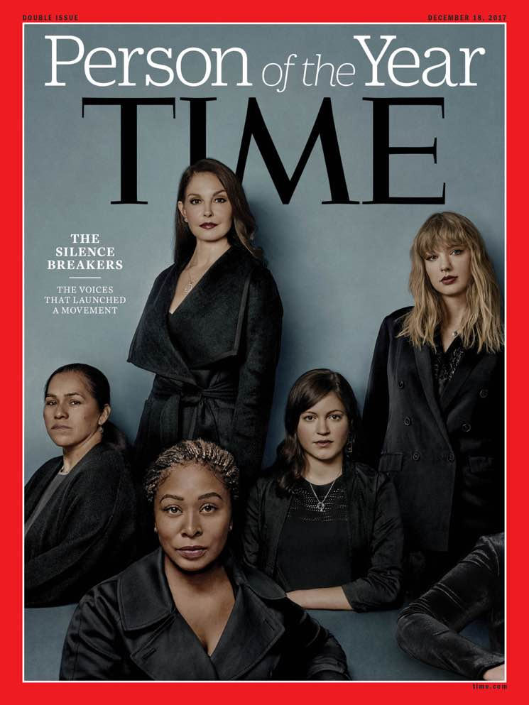 "​Ashley Judd, Rose McGowan, Taylor Swift Among ""the Silence Breakers"" Named TIME's Person of the Year"