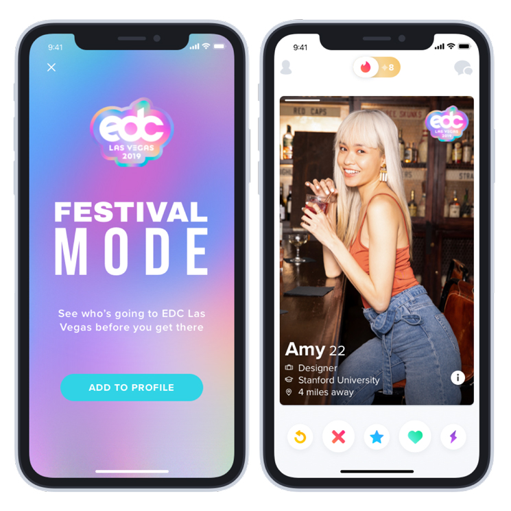 """Tinder Is Launching a """"Festival Mode"""""""