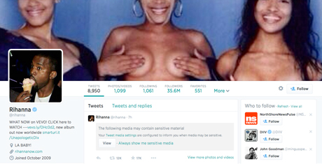 Rihanna Fires Back at TLC's Nudity Diss on Twitter
