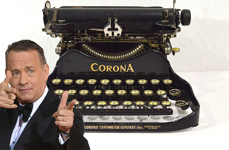 Coronavirus Survivor Tom Hanks Sent a Corona Brand Typewriter to an 8-Year-Old Boy Named Corona