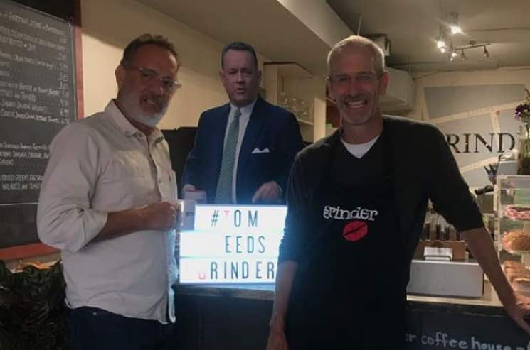 ​Tom Hanks Visited Toronto's Grinder Coffee Following Social Media Campaign