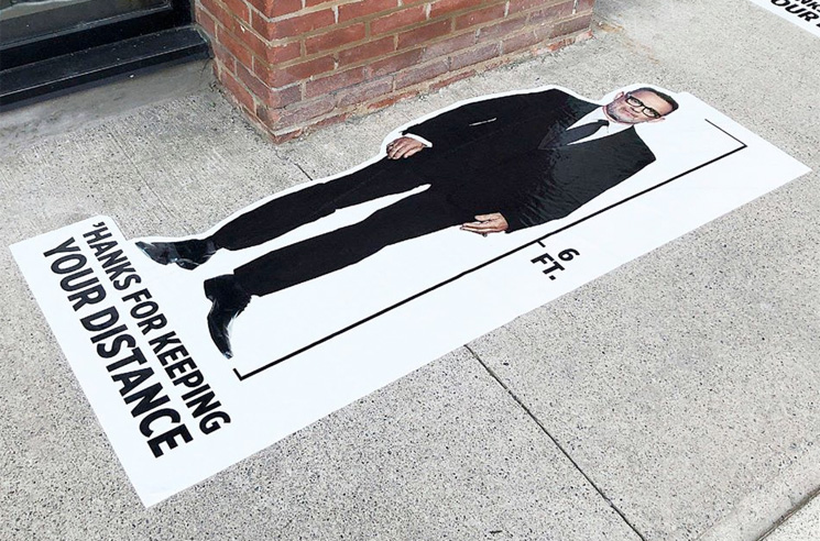Tom Hanks Decals Are Popping Up in Toronto to Mark Your Social Distancing