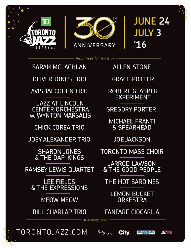 Toronto Jazz Fest Unveils 2016 Lineup with  Sharon Jones, Robert Glasper, Lee Fields