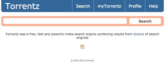 Piracy Search Site Torrentz Ceases Operation