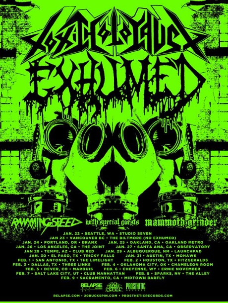Toxic Holocaust Announce North American Tour With Exhumed, Mammoth Grinder, Ramming Speed