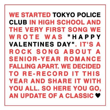 "Tokyo Police Club ""Happy Valentine's Day"""