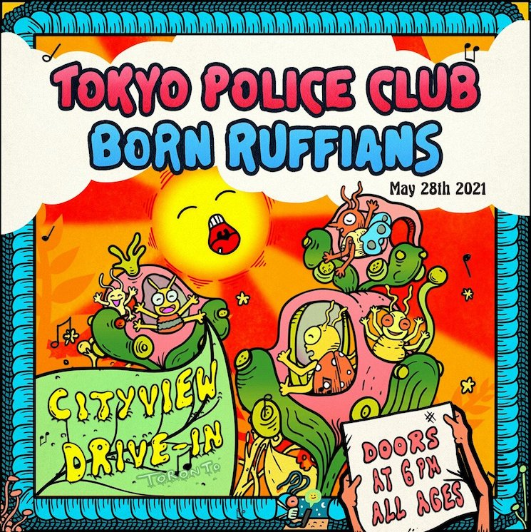 Tokyo Police Club and Born Ruffians Announce Toronto Drive-In Show