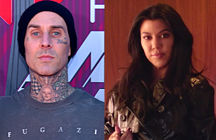 Blink-182's Travis Barker Got a Kourtney Kardashian Tattoo Right Above His Nipple