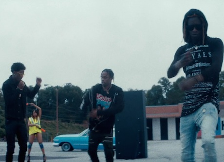 "Travi$ Scott ""Mamacita"" (video ft. Rich Homie Quan and Young Thug)"