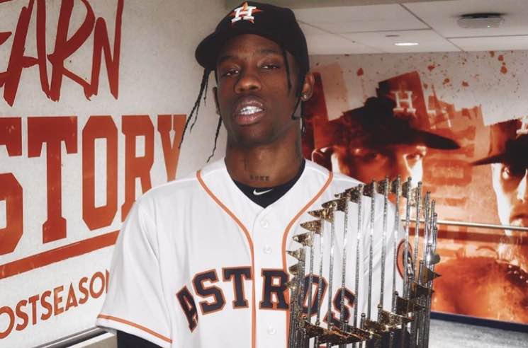 ​Watch Travis Scott Lose It over the Houston Astros' World Series Win