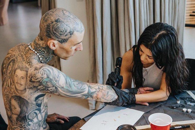 Kourtney Kardashian Gives Travis Barker a New Love Tattoo