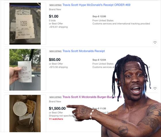People Are Already Flipping Travis Scott McDonald's Burgers on eBay