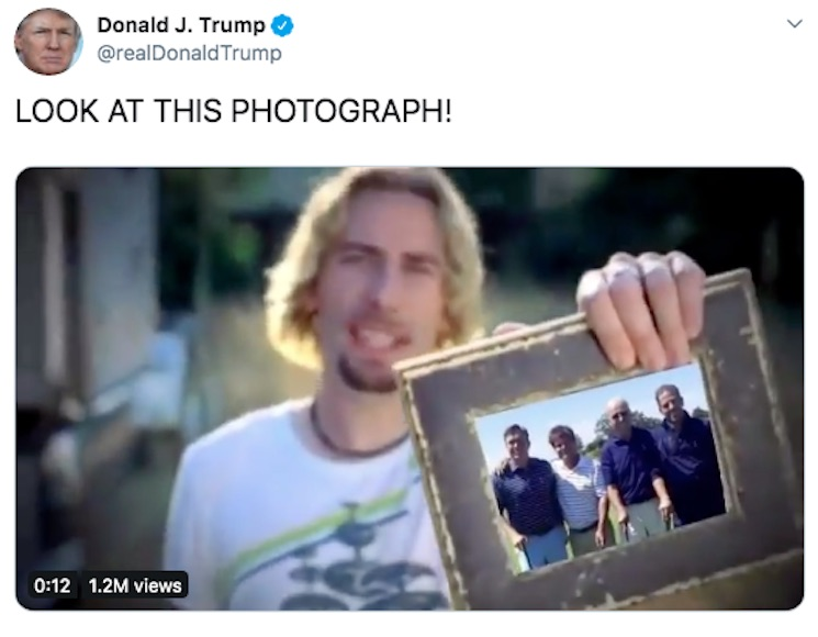Donald Trump Just Shared a Nickelback Meme on Twitter