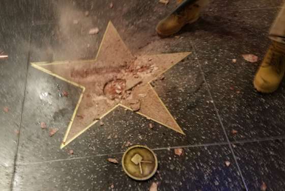 Donald Trump's Hollywood Walk of Fame Star Smashed with Sledgehammer