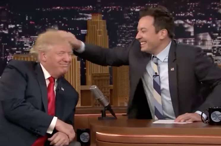 Donald Trump Responds to Jimmy Fallon's Regret over the Hair Tousle: 'Be a Man'