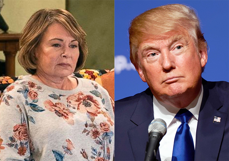 Donald Trump Uses the 'Roseanne' Cancellation to Feel Sorry for Himself
