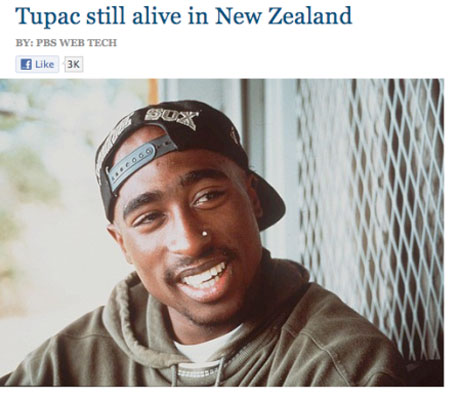 Hackers Post Story Claiming Tupac Is Still Alive on PBS Website
