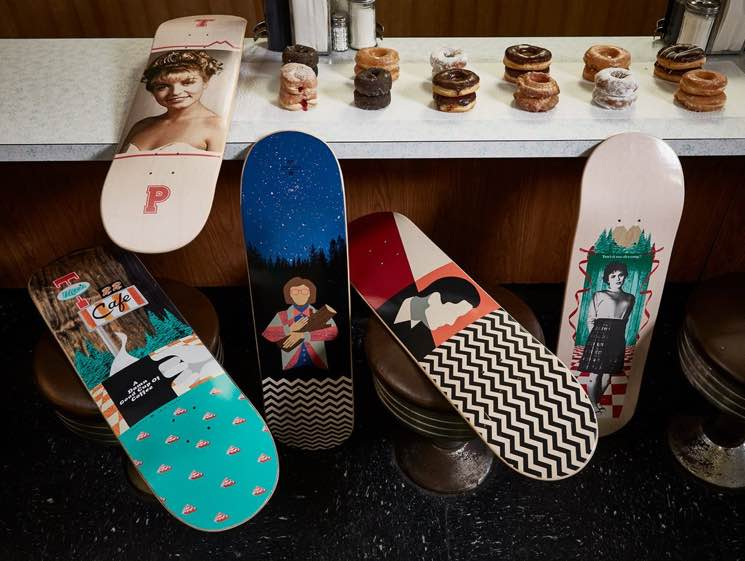 'Twin Peaks' Treated to Custom Skateboard Decks