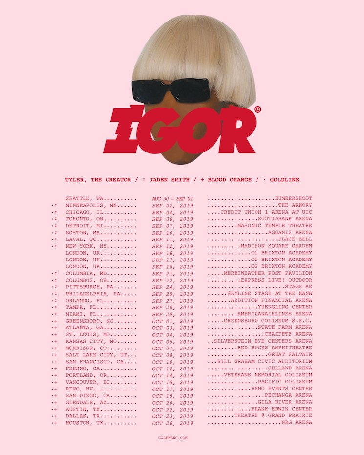 Tyler, the Creator Is Hitting Toronto, Laval and Vancouver on Massive 'IGOR' Tour