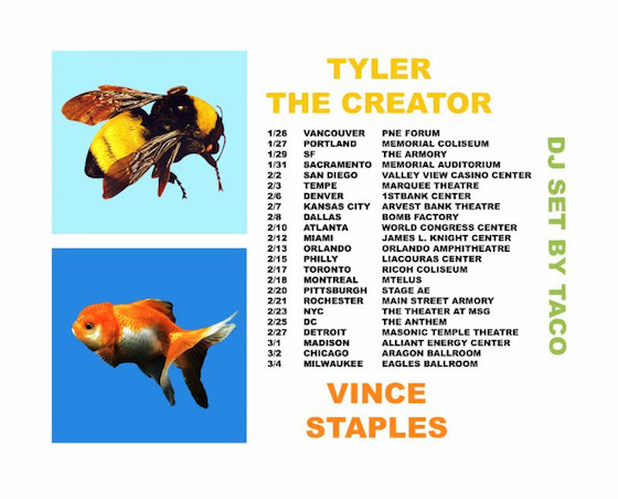 Tyler, the Creator Teams Up with Vince Staples for North American Tour