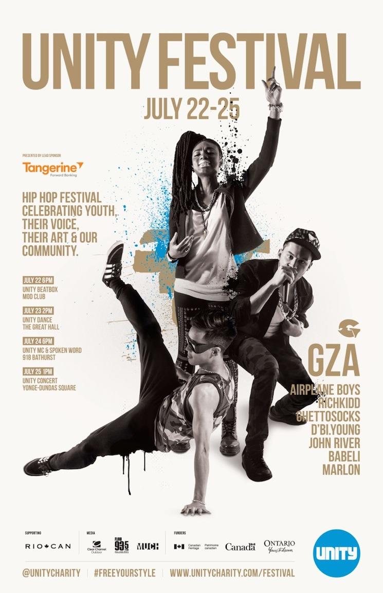 GZA, Rich Kidd, Ghettosocks Play Toronto's UNITY Festival