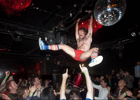 "Monotonix Singer Ami Shalev ""Finally"" Breaks His Leg Mid-Concert"