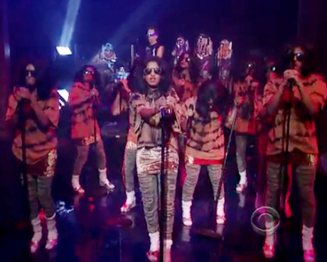 "M.I.A. ""Born Free"" (live on <i>Letterman</i>)"