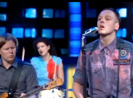 "Arcade Fire ""Ready to Start"" / ""Month of May"" (live on <i>The Daily Show</i>)"