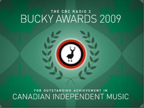 Dan Mangan, Sloan and Said the Whale Take Home Top Honors at CBC Radio 3's 2009 Bucky Awards