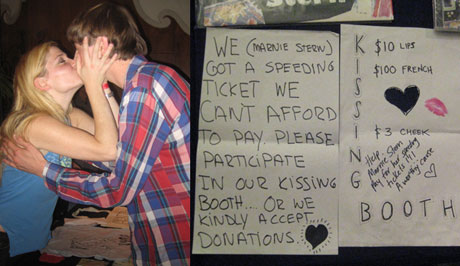 Marnie Stern Sets Up Kissing Booth To Pay Off Speeding Ticket