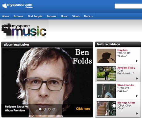 MySpace Music Launches - Much to Beggars Group's Chagrin
