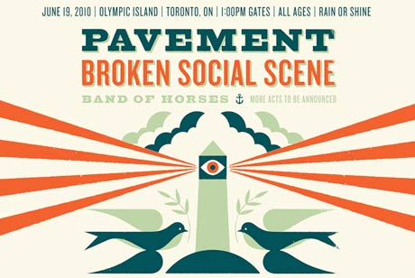 Pavement to Play Toronto Island Concert with Broken Social Scene and Band of Horses