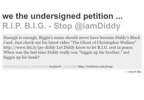 Beefs 2010: 50 Cent Starts Petition for P. Diddy to 'Let B.I.G. Rest in Peace'