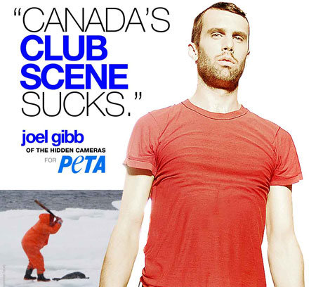 The Hidden Cameras' Joel Gibb To Protest Seal Slaughter May 4 At Queen's Park
