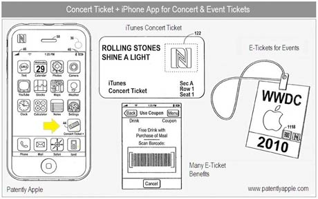 Apple Patenting System for Digital Concert Tickets