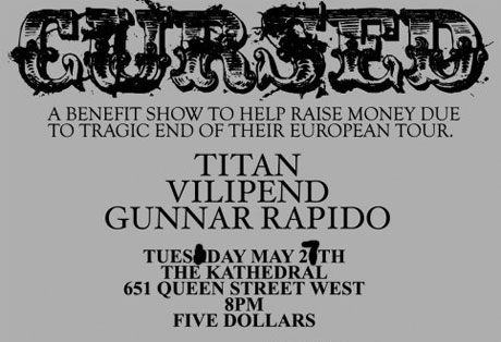 Cursed Benefit Set For Tomorrow in Toronto