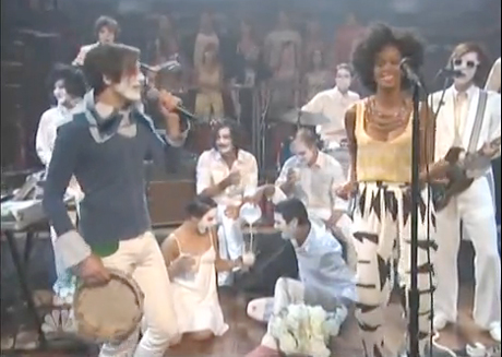 "Of Montreal ""Sex Karma"" featuring Solange Knowles (live on <i>Jimmy Fallon</i>)"
