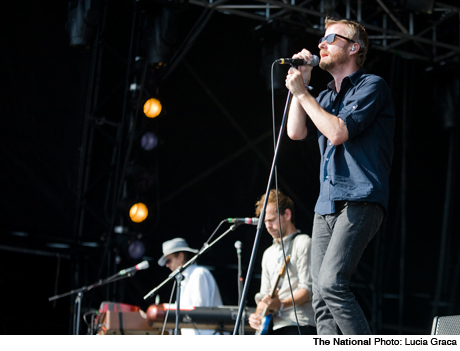 Glastonbury Day 2 featuring the National, Billy Bragg, Bombay Bicycle Club, Kate Nash Worthy Farm, Pilton UK June 26