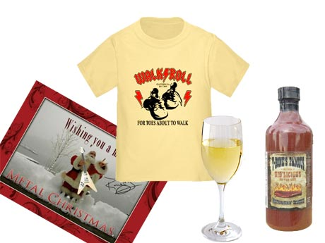Metal Dudes Test Their Entrepreneurial Skills with Wine, BBQ Sauce, Clothing and, Uh, Christmas Cards