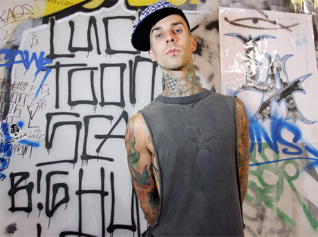 "Travis Barker Calls Rap Haters ""Nazi Bastards"""