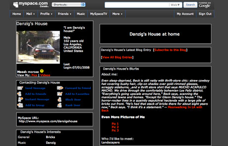 Danzig's House Has A MySpace Page!