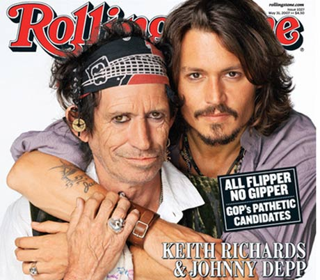 Johnny Depp Gets the Ball Rolling on Keith Richards Documentary