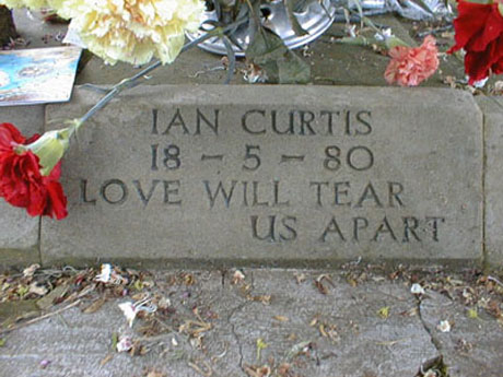 Ian Curtis's Gravestone Robbed From Cemetery