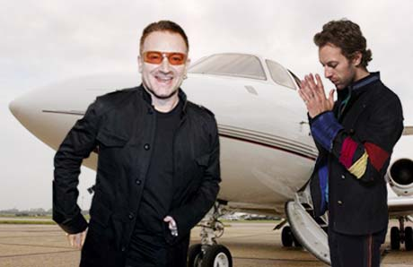 U2 Buddy Up to Coldplay by Lending Them Their Private Jet